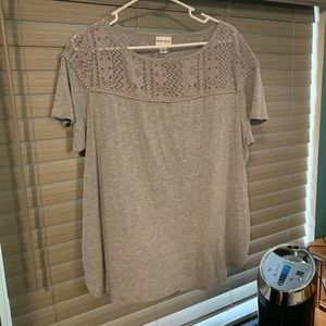 Ava and Viv size 1X gray blouse